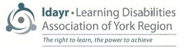 Learning Disabilities Association of York Region